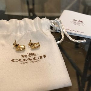 "Coach ""C"" Stud Earrings"